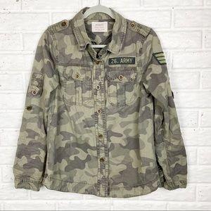ASHLEY Camo military inspired utility jacket